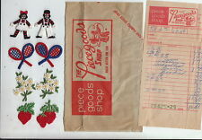 Vintage 70s Unused Rageddy Ann & Andy + Tennis Daisies Strawberries Appliques~!