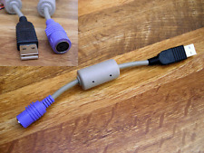 PS2 Socket female to USB Plug male / To use a PS2 KEYBOARD with ANY USB SOCKET