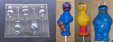 Sesame Street Lollipop Grover Big Bird Ernie Chocolate Candy Soap Crayon Mold