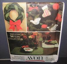 Avon Christmas Ornaments, Wreath & More by McCall's Pattern UNCUT FF