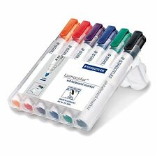 Staedtler 351 Lumocolour Whiteboard Marker with Bullet Tip - Assorted Colours