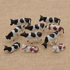 Kühe Modell Figuren Bauernhof 1:87 Deko Spielzeug Kinder 10x Mehrfarbig Zufällig