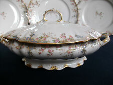 CH FIELD HAVILAND- GDA (c.1898)-COVERED SERVING BOWL- RARE!EXCELLENT!GILT! MINT!