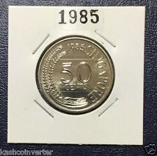 Singapore 1985 Year of the Ox Uncirculated 50 cents Coin  (Rare)