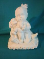 Ceramic Bisque Baby Girl on Pillow - Ready to Paint