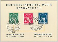 57271 - GERMANY Deutschland BERLIN - MICHEL 68/70  USED on SPECIAL CARD 1951