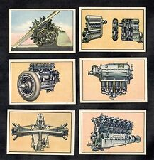 Aircraft Engines Garbaty German 6 Card Set 1932 Aviation Flying Motors Argus BMW