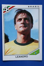 Panini WC MEXICO 86 STICKER N. 241 BRASIL LEANDRO  WITH BACK VERY GOOD/MINT