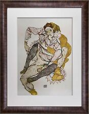 "Egon SCHIELE Lithograph SIGNED Dated #'ed Limited Edition ""COUPLE"" 1915 +FRAMING"