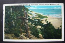 Duck Lake Channel to Lake Michigan & Scenic Highway, Whitehall postcard 1937