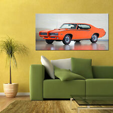 1969 PONTIAC GTO THE JUDGE MUSCLE CAR LARGE HIGH DEFINITION POSTER 24x48in