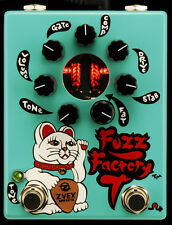 Z.VEX ZVex Effects Pedal, Hand Painted, Fuzz Factory 7, teal, New,Free Shipping