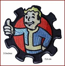 VELC. FALLOUT Pip Boy Morale Military 3 Inch Diameter Embroidered Logo PATCH