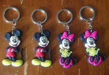 NEW Lot of 4 Mickey & Minnie Mouse Keyrings - Party loot bags prizes favours
