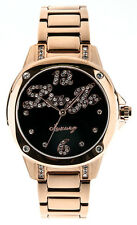 Liu Jo Orologio Watch Woman Uhr Donna Acciaio Ramato Paris TLJ640 Nero Strass