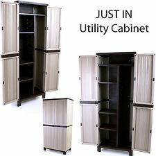 UTILITY CABINET OUTDOOR STORAGE SHED GARDEN TOOL STORE PATIO GARDENING