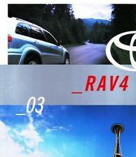 2003 03 Toyota Rav 4  Rav4  oiginal sales brochure MINT