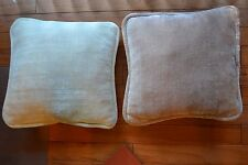 "17""x16 Soft Plush Chenille-like Cream/Off White or Pale Baby Pink Throw Pillows"