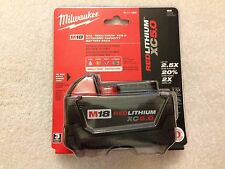 New Milwaukee 48-11-1850 M18 18V 18 Volt Red Lithium Ion XC Batteries 5.0Ah NIB