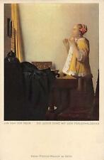 "vintage greetings cards 1930 Artist van der Meer ""young lady ""1847"""