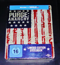 THE PURGE ANARCHY STEELBOOK LIMITIERTE EDITION  BLU RAY  NEU & OVP