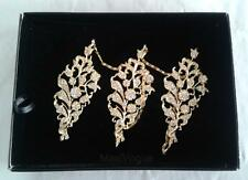 Floral Chain Brooch Pin Jewelry Vintage Chinese Dress Accessories + Gift Box K3