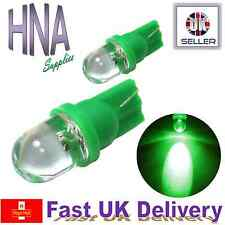 2x BRIGHT GREEN Round LED Interior Exterior T10 501 W5W Bulbs b