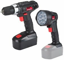 18 Volt Cordless 3/8 inch Drill Driver Keyless Chuck and LED Flashlight