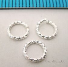 20x STERLING SILVER OPEN ROUND TWIST JUMP RING JUMPRING 6mm 0.9mm 19GA #2028