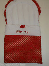 BABY NEST BABY SLEEP SAC BABY SLEEPING BAG RED SMALL WHITE SPOTS LITTLE STAR