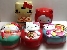 Vintage Sanrio Hello Kitty 5 Obento Bako/Lunch Box *Japan