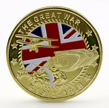 Gold Plated 1914-1918 The Great War Passchendaele Aircraft Commemorative Coin