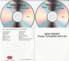 NEW ORDER Power, Corruption & Lies 2008 UK remastered 16-track promo test 2-CD