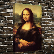 HD Print Picture Portraits Decor Mona Lisa Oil Painting on canvas 16x24 Inches