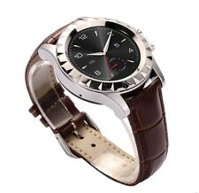 T2 HD BLUETOOTH SMART ROUND STAINLESS STEEL WRIST WATCH with 3.0MP CAMERA BROWN*