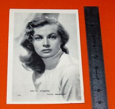 CARTE PHOTO PUBLICITE BISCOTTES St LUC ANNEES 1950 ANITA EKBERG ACTRICE