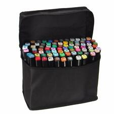 New 80 Colors Graphic Sketch Twin Tip Marker Pen Art Broad Fine Point Set