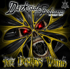 """CAN-AM MAVERICK & COMMANDER HOOD GRAPHICS KIT """"THE DEMONS WITHIN"""" DECALS WRAP"""