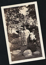 Old Vintage Antique Photograph Mom & Dad With Two Adorable Children Cool Outfits