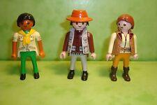 Playmobil : Lot de 3 personnages playmobil / figure