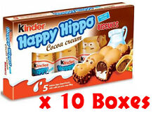 Kinder Happy Hippo Milk Cocoa Cream Biscuits 10 CASES (20.7g x 5) - Total 50 Pcs