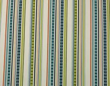 "P KAUFMANN GROOVIN MAMBO STRIPE GREEN BLUE MULTIUSE FABRIC BY THE YARD 54""W"