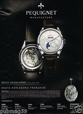 Publicité advertising 2012 La Montre Royal Grand Sport Pequignet