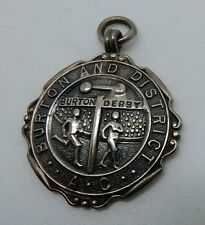 Vintage 1931 Hallmarked Sterling English Burton Derby Track Award Fob
