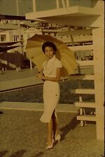 Beautiful Young Woman Asian Hong Kong Vintage 1960's 35mm Commercial Slide A92 e