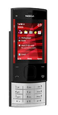 Original Nokia X Series X3-00 Black/red (Unlocked) Mobile Phone,GSM,3.2M,Bar.