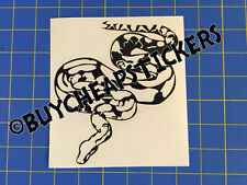 Red Tail Boa - Snake Vinyl Decal - Sticker 6x5 - Any Color