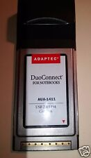 Used Adaptec for Notebooks Duo Connect USB 2.0/1394 Card Bus AUA-1411 Adds Ports