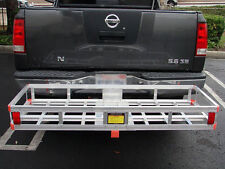 "60 x 22 Aluminum RV 2"" Hitch Mount Cargo Carrier Truck Luggage Basket Generator"