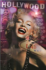 MARILYN MONROE - HOLLYWOOD COLLAGE POSTER - 24x36 SEXY PIN UP LAS VEGAS 6791